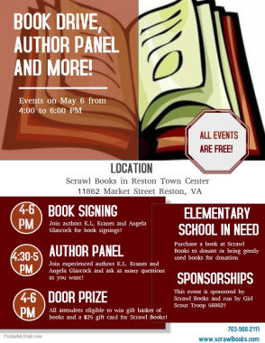 Revised Book Event Poster