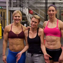 Brooke Ence, Robin Wright, and Angharad James
