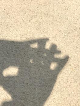 Pinhole camera making crescent suns