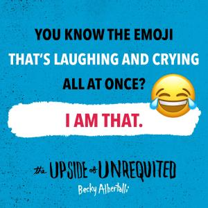 Upside emoji quote