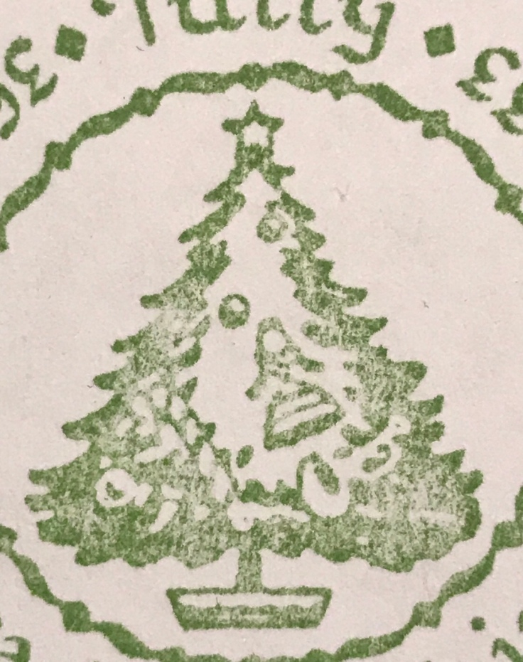 Our Christmas tree rubber stamp return address
