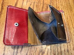 Inside blue wallet